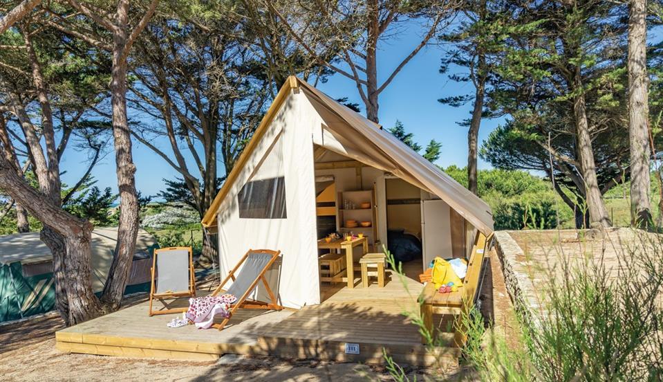 location tente ecolodge près de Royan