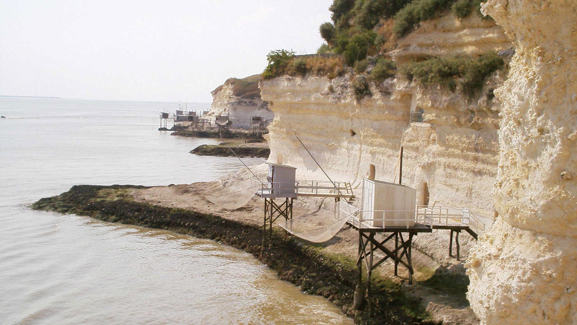 cabanes de pêcheurs près du camping en Charente Maritime